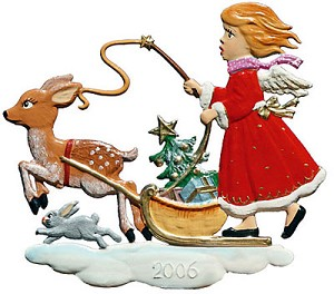 Angel Sleigh Ride Ornament