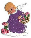 Angel Picking Flowers Ornament