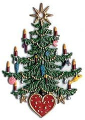 Christmas Tree with Heart Ornament