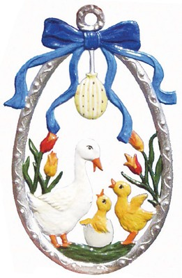 Egg with Duck Family Ornament
