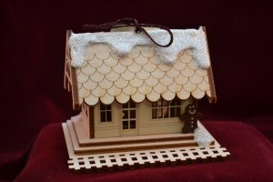 Ginger Cottages-Train Depot Ornament