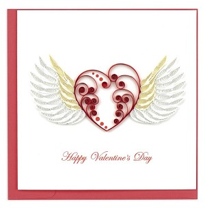 "QUILLING CARD ""HAPPY VALENTINE'S HEART"""