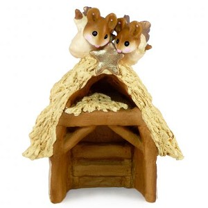 "Wee Forest Folk ""Chris-Mouse Pageant Stable"""
