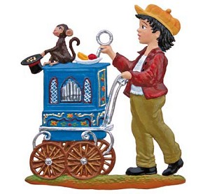 Little Organ Grinder Ornament