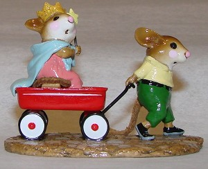 "Wee Forest Folk ""Queen's Carriage"" Mouse Parade"