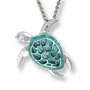 "NICOLE BARR ""GREEN SEA TURTLE"" NECKLACE"