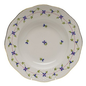 "Herend ""Blue Garland"" Rim Soup Plate"