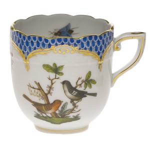 "Herend ""Rothschild Bird Blue Border"" After-Dinner Cup"