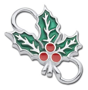 "Sterling ""Holly"" Clasp"