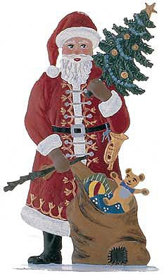 "WILHELM SCHWEIZER ""SANTA WITH TREE AND SACK"""