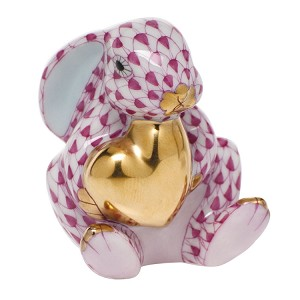 "HEREND ""BUNNY WITH HEART"" RASPBERRY"