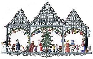 Christmas Market Wall Hanging