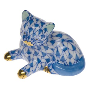 "Herend ""Miniature Kitten"" Blue"