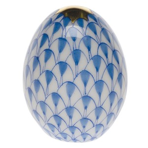 "Herend ""Miniature Egg"" Blue"