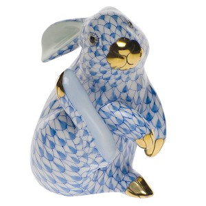 "Herend ""Scratching Bunny"" Blue"