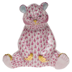 "Herend ""Baby Bear Sitting"" Raspberry"