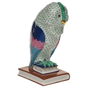 "Herend ""Owl on Books"" Green"