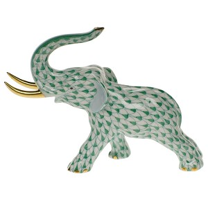 Herend Elephant with Gold Tusks