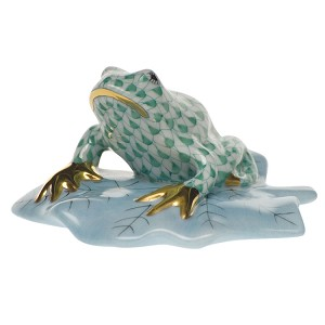 "Herend ""Frog on Lily Pad"" Green"