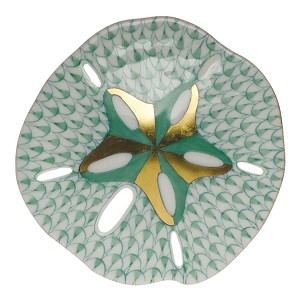 "Herend ""Sand Dollar"" Green"